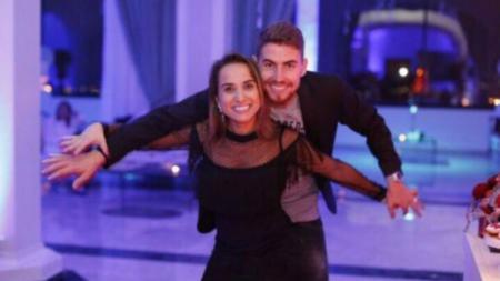 Jorginho dan istrinya, Natalia Leteri. - INDOSPORT
