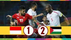 Indosport - Hasil laga Timnas Indonesia U-23 vs Palestina U-23.