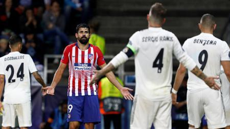 Diego Costa dan Segio Ramos terlibat insiden di laga Piala Super Eropa. - INDOSPORT