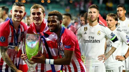 Real Madrid harus mengakui kekalahannya dari Atletico Madrid. - INDOSPORT