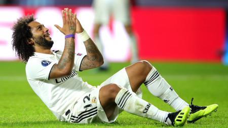 Penyesalan Marcelo pasca gagal mencetak gol. - INDOSPORT