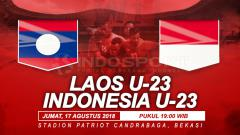 Indosport - Timnas Laos vs Indonesia U-23.