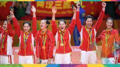 Indosport - Tim Voli China meraih medali emas di Olimpiade 2016