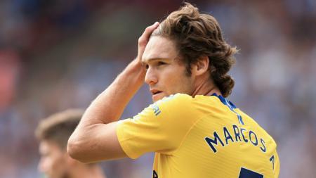 Marcos Alonso, bek sayap Chelsea. - INDOSPORT