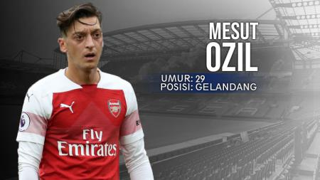 Chelsea vs Arsenal Mesut Ozil. - INDOSPORT