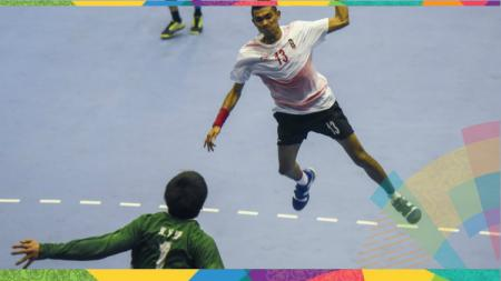 Tim bola tangan Indonesia kala menghadapi Hongkong. - INDOSPORT