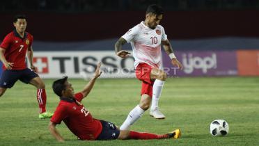 (GALERI FOTO) Aksi Fantastis Timnas Indonesia U-23 vs Laos U-23