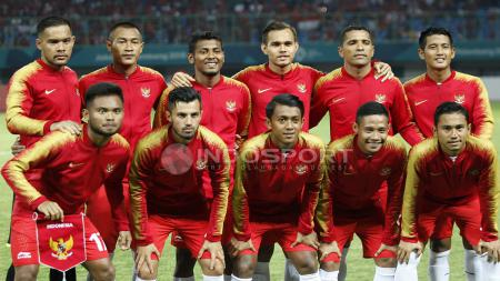 Starting Eleven Timnas Indonesia U-23 kala bersua Laos U-23. - INDOSPORT