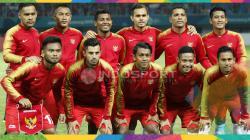 Starting Eleven Timnas Indonesia U-23 kala bersua Laos U-23.