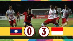 Indosport - Hasil laga Timnas Laos U-23 vs Indonesia U-23.
