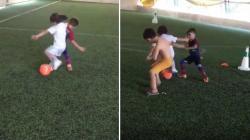 Arat Hosseini, anak berumur 5 tahun dengan skill sepak bola menakjubkan.