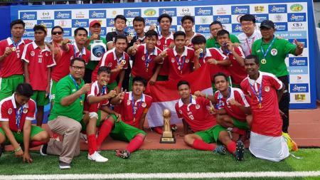 Pelajar U-16 Kemenpora juara Gothia Cup. - INDOSPORT