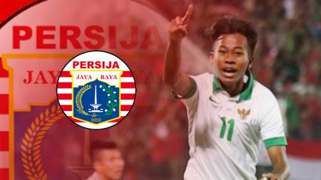 Muhammad Supriadi dan logo Persija Jakarta. - INDOSPORT