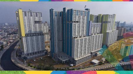 Bangunan wisma atlet untuk Asian Games 2018. - INDOSPORT