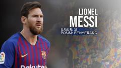 Indosport - Barcelona Deportivo Alaves Lionel Messi.