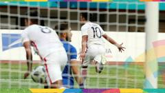 Indosport - Gelandang Hongkong Lam Ka Wai usai mencetak gol di Asian Games 2018.
