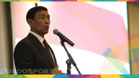 Ketua umum PP PBSI, Wiranto mengaku prihatin melihat adanya polemik pada proses audisi pencarian bakat untuk menjadi atlet bulu tangkis dengan KPAI. - INDOSPORT