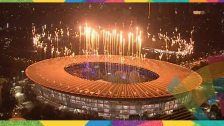 Kemegahan pembukaan Asian Games 2018 di Stadion Gelora Bung Karno. - INDOSPORT