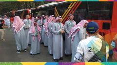 Indosport - Kontingan Arab Saudi pembukaan Asian Games 2018.