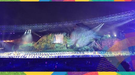 Kemeriahan dan kemegahan pembukaan Asian Games 2018. - INDOSPORT