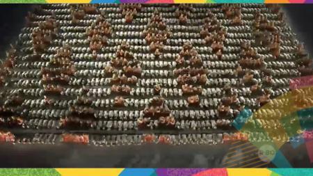 Tarian Saman tampil memukau di pembukaan Asian Games 2018. - INDOSPORT