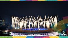 Indosport - Kemegahan dan kemeriahan pembukaan Asian Games 2018.