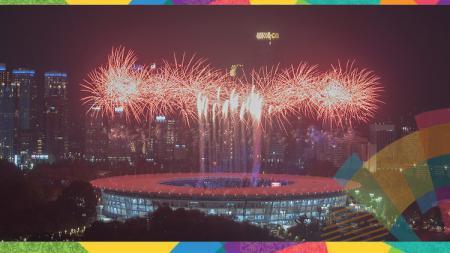 Kemegahan dan kemeriahan pembukaan Asian Games 2018. - INDOSPORT