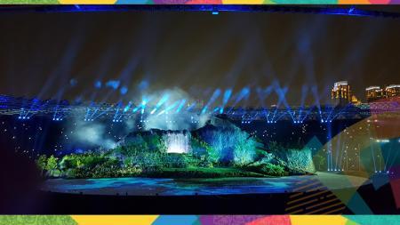 Kemegahan dan kemeriahan Opening Ceremony Asian Games 2018. - INDOSPORT