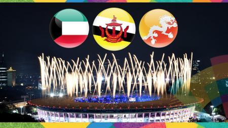 Negara yang sumbangkan atlet paling sedikit di Asian Games 2018. - INDOSPORT