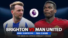 Indosport - Brighton vs Manchester United.