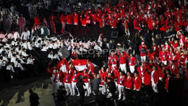 (GALERI FOTO) Kemeriahan Opening Ceremony Asian Games 2018
