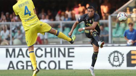 Penampilan Ronaldo saat debut bersama Juventus. - INDOSPORT