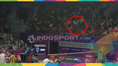Penonton cabor bulutangkis Asian Games 2018 di Istora Gelora Bung Karno. - INDOSPORT