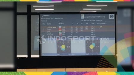 Cabor menembak di Asian Games 2018. - INDOSPORT