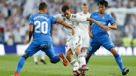 Situasi pertandingan antara Real Madrid vs Getafe. - INDOSPORT