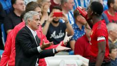 Indosport - Jose Mourinho, pelatih Manchester United.