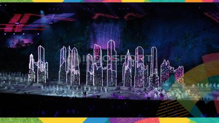 Kemeriahan Opening Ceremony Asian Games 2018. - INDOSPORT