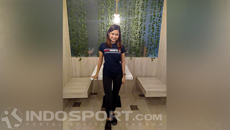 Olla Carla, Fans Cantik MU asal Indonesia Copyright: INDOSPORT/Petrus Tommy