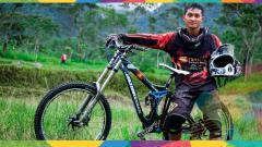 Indosport - Atlet balap sepeda Indonesia, Khoiful Mukhib.