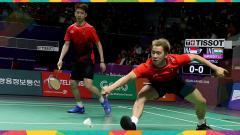 Indosport - Kevin Sanjaya Sukamuljo/Markus Fernaldi Gideon di Asian Games 2018.