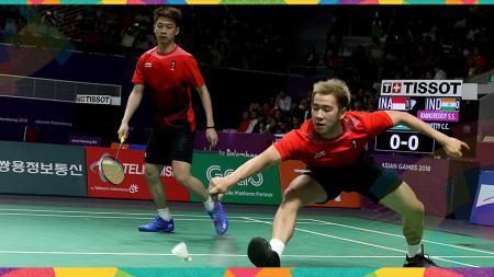 Kevin Sanjaya Sukamuljo/Markus Fernaldi Gideon di Asian Games 2018. - INDOSPORT
