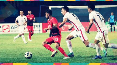 Indonesia vs Hongkong di putaran terakhir penyisihan Grup A Asian Games 2018. - INDOSPORT