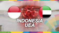 Indosport - Timnas Indonesia melawan United Arab Emirates.