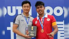 Indosport - Rizki Arohman, meraih penghargaan pemain terbaik di Gothia Cup 2018