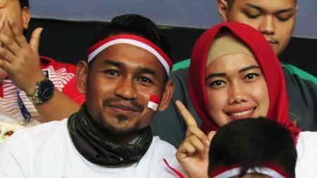 Ramdani Lestaluhu mendukung langsung Timnas U-23 di Stadion - INDOSPORT