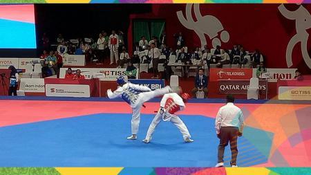 Anugrah Prasetyo Rizky saat melawan China di Asian Games 2018. - INDOSPORT