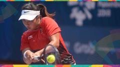 Indosport - Aldila Sutjiadi, petenis tunggal putri Indonesia lolos ke perempar final.