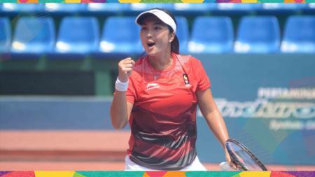 Aldila Sutjiadi telah meraih tujuh gelar ganda putri turnamen ITF bersama dua petenis berbeda meski tahun ini baru memasuki pertengahan Oktober. - INDOSPORT