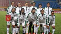 Indosport - Timnas Sepak Bola Putri Indonesia di Asian Games 2018.