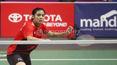 Gregoria Mariska Tunjung, berhasil menang atas tunggal putri Jepang, Akane Yamaguchi. - INDOSPORT